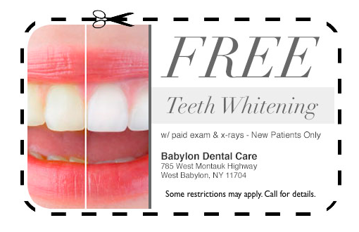 free teeth whitening Babylon Dental Care