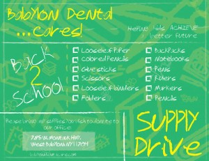 2013 School Supply Drive