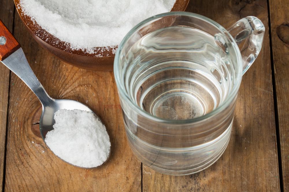 Salt water rinse